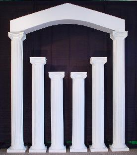 greek colonade with 2 72 columns