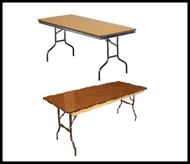 Six and Eight foot Banquet Tables