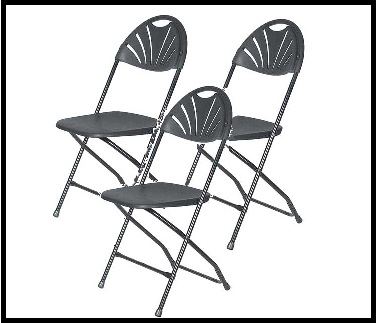 Black Fan Back Chairs