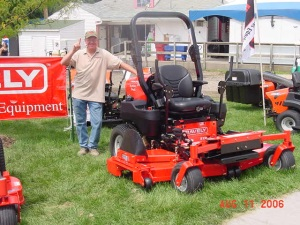 Our Gravely Mower featured at the Iowa State Fair in 2009